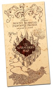 gadget libri harry potter mappa malandrino