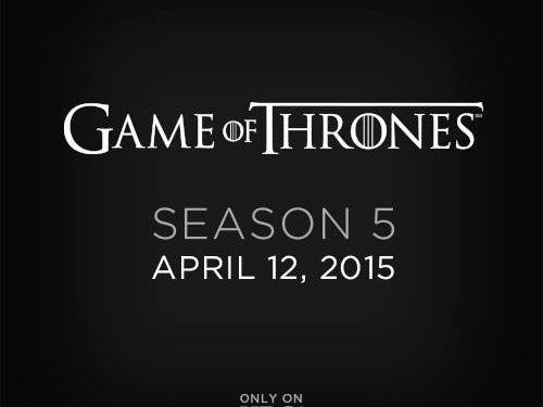 Game of Thrones quinta stagione – In arrivo ad Aprile!