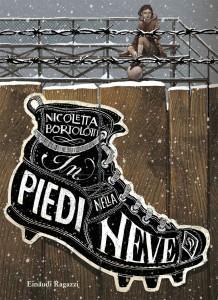 in piedi nella neve