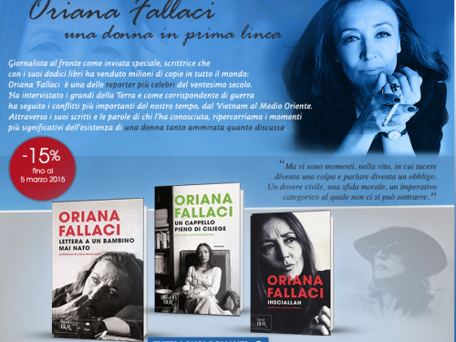 Tutti i libri di Oriana Fallaci a sconto
