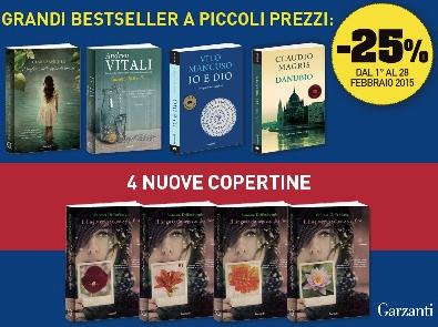 Bestseller Garzanti in sconto per tutto febbraio