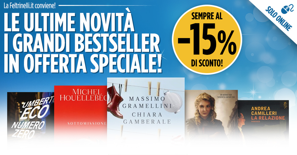 Sconti ultime novit libri solo online the books blender for Libri acquisto online sconti
