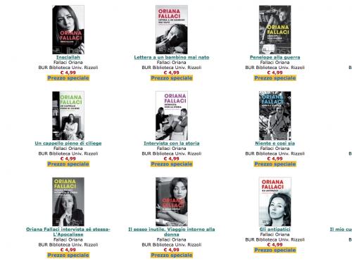 Oriana Fallaci: ancora sconti