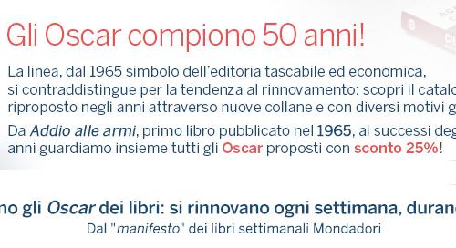 Sconti Mondadori: 50 anni di Oscar!
