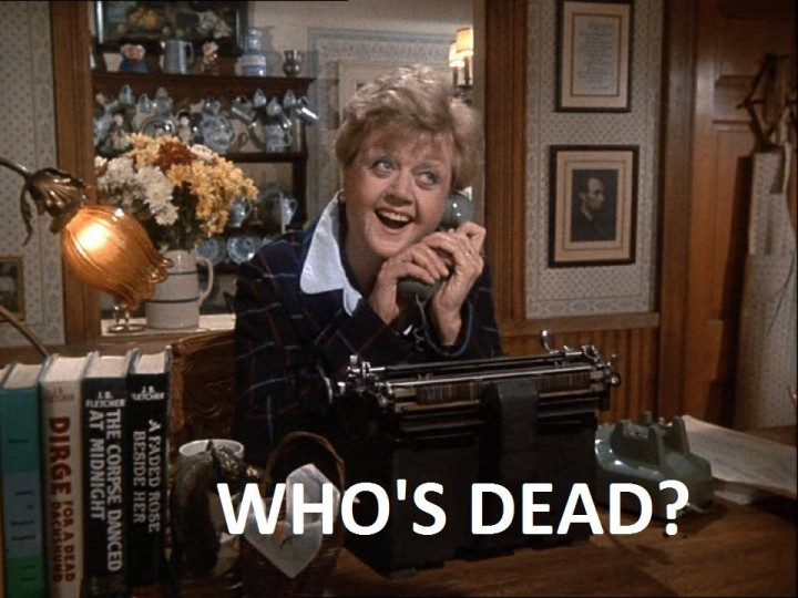 cena con delitto tutorial - who's dead jessica fletcher