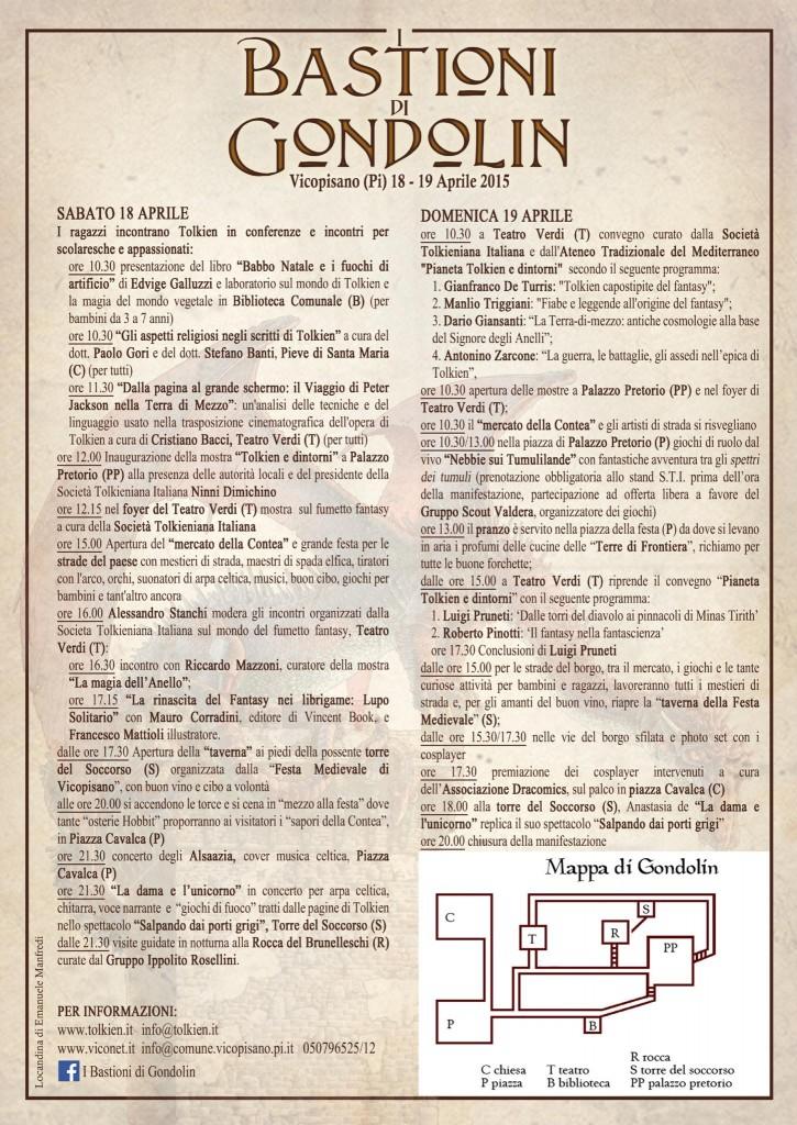 I Bastioni di Gondolin - Programma