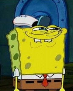 spongebob eager face