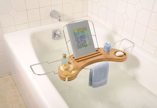 gadget lettori - Bamboo-Bathtub-Caddy
