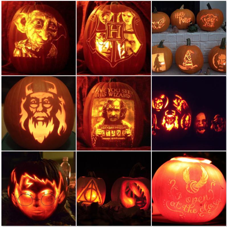 zucche di halloween harry potter