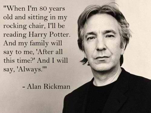 Severus Piton: è un eroe? - Alan Rickman quote