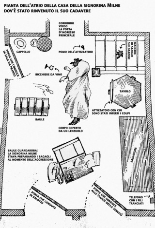 recensione la vita segreta e la strana morte della signorina Milne - mappa